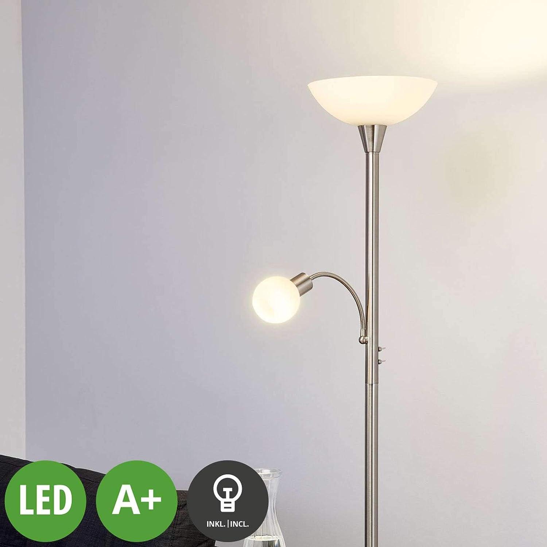 Lindby Led Stehlampe Elaina Modern In Alu Aus Metall U A Fur