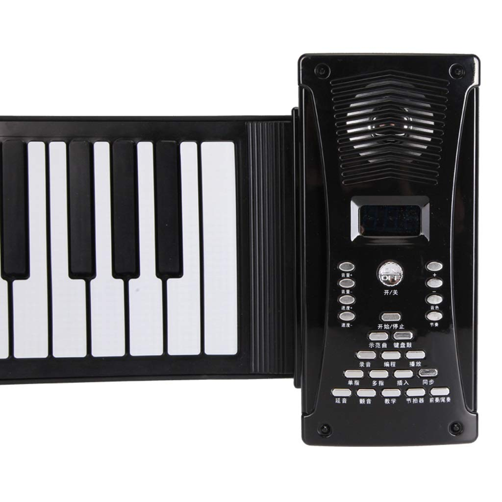 Puzzle Klavier 88-Tasten-Hand Roll Klaviertastatur Portable Faltung Boy Girl Toy