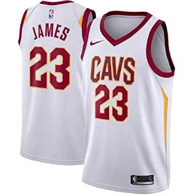 021a1d538 Nike Lebron James Cleveland Cavaliers NBA Youth White Home Dri-Fit Swingman  Icon Jersey (