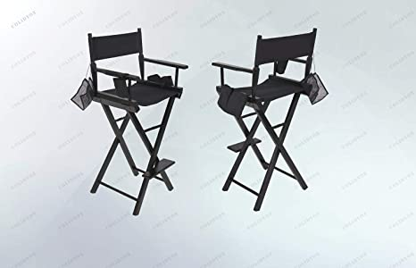 Makeup Chair Lightweight Foldable Wood Canvas Professional Makeup Artist Directors Chair Perfect For Beauty Makeup Artists Motion Picture Directors Actors Staff Directors Chairs Kolenik Home Kitchen