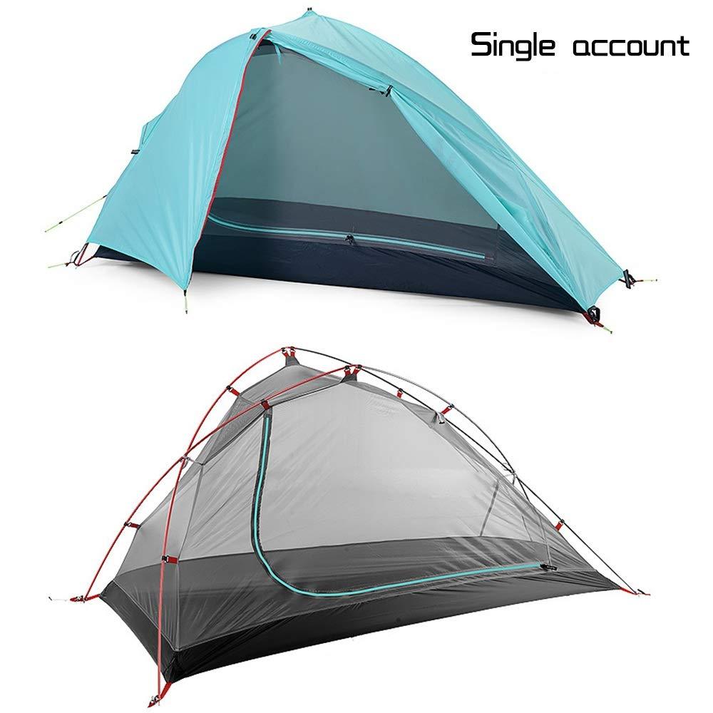 protezione post-vendita Camping Camping Camping Alpinismo Tenda, Tre Stagioni Esterno Singolo Matrimoniale Doppio Antivento e Antipioggia (colore   A)  contatore genuino