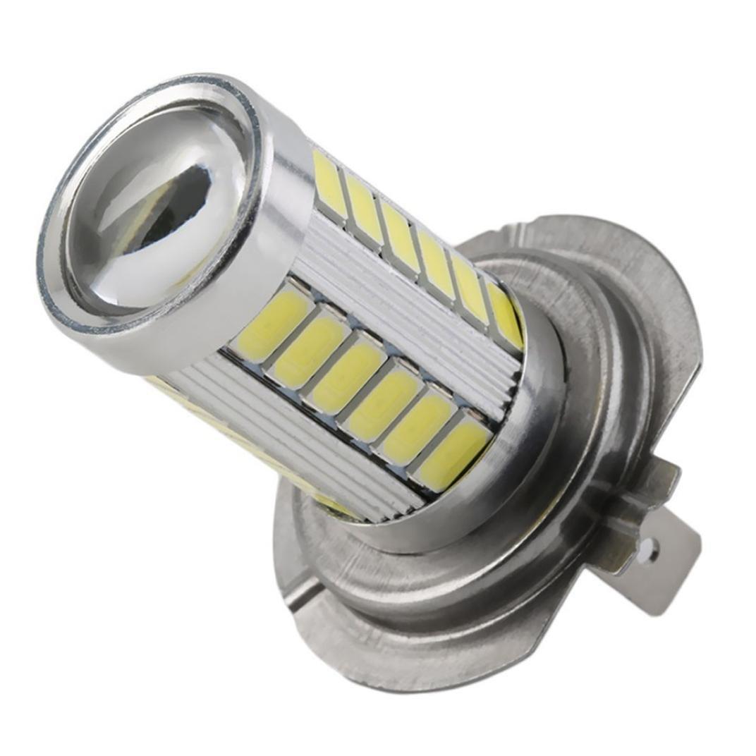 Leewos 4 PCS H7 LED Car Fog Driving Light Super Bright 5630 SMD 33 LED 12V White Low Power Auto Car Bulbs Lamps