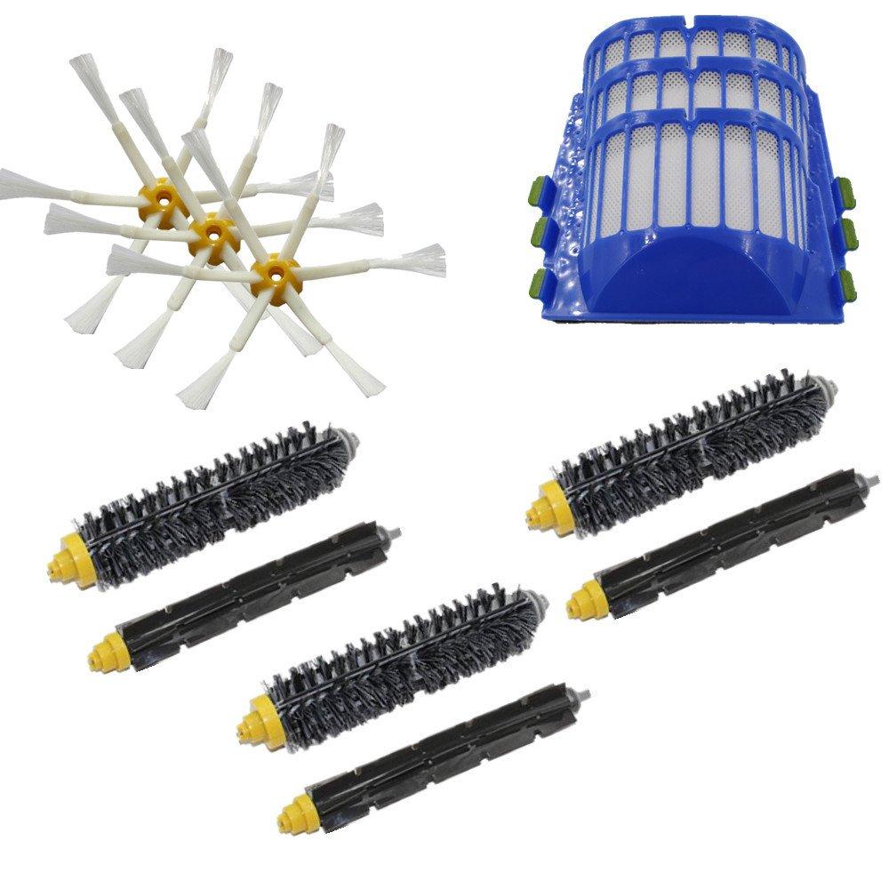 LOVE(TM) Bristle & Flexible Beater Brush 6-Armed Aero Vac Filters kit for Robot 600 Series 620 630 650 660
