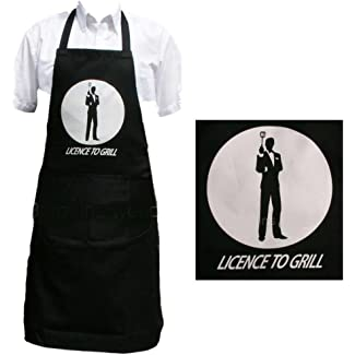 Licence to Grill James Bond Apron