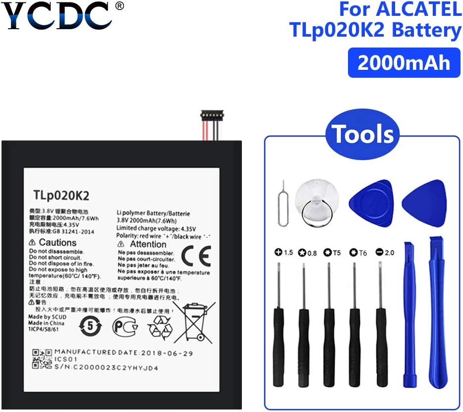 Tools,2000MAH TLP020K2 Battery for ALCATEL ONE Touch 6039Y 6039K Idol 3 4.7 Tools YCDC 2000mAh Battery TLp020K2 TLp020Kj for Alcatel Idol 3 6039 6039K 6039Y