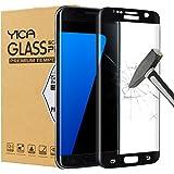 Galaxy S7 Edge Protector de Pantalla, Yica Samsung Galaxy S7 Edge Cristal Vidrio Templado Premium 3D[Cobertura Completa] [Anti-Scratch] [Burbuja Libre] Touch Protector de Pantalla de Ultra HD Claro para el Galaxy S7 Edge-Negro