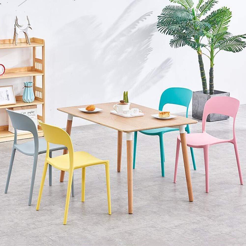 JIEER-C Fritid kontorsstol matstolar pack-2 hållbar plast kök av högsta kvalitet kök bar kontor lounge hållbar stark Rosa