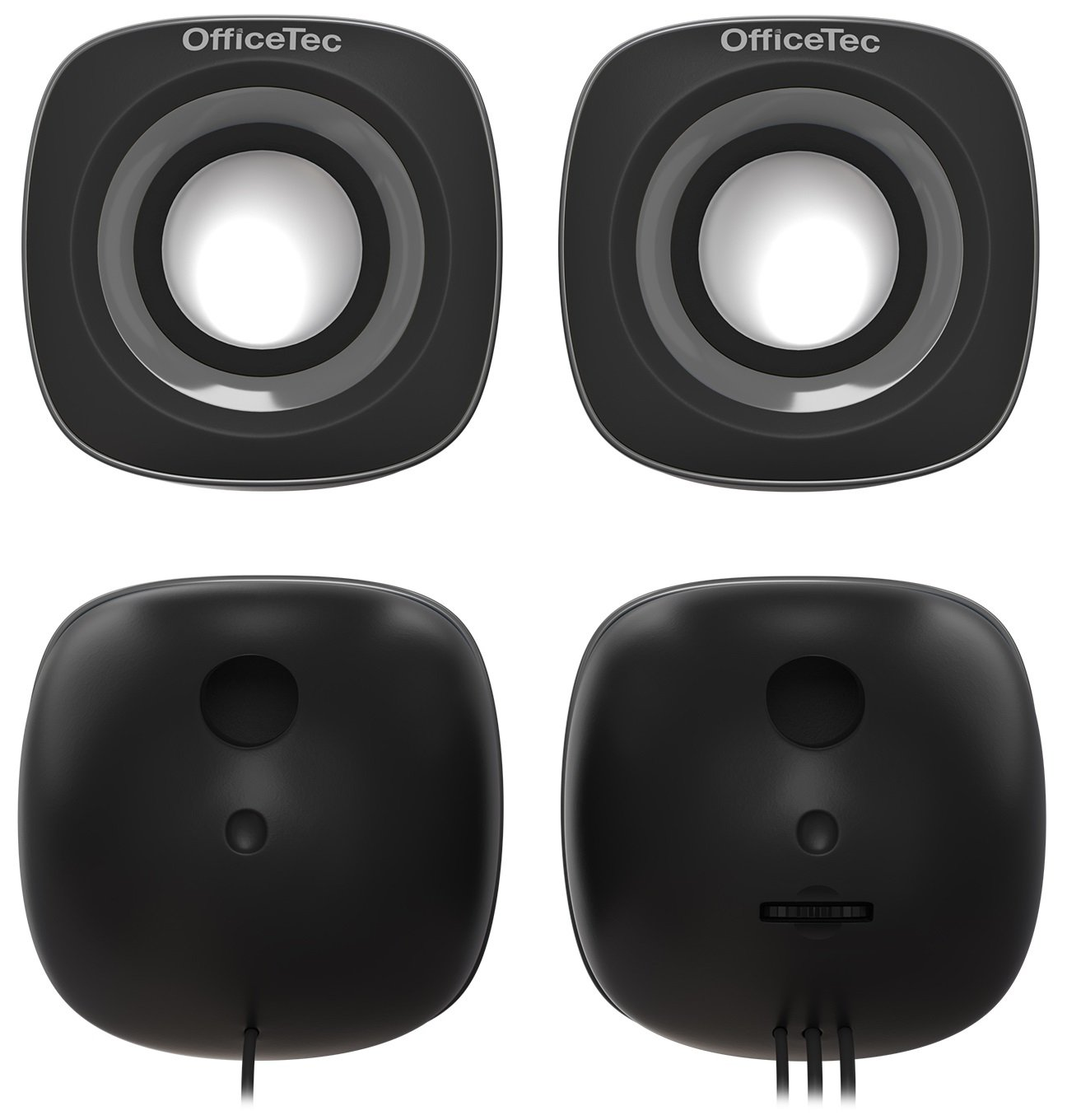 OfficeTec USB Computer Speakers Compact 2.0 System for Mac and PC (Gray) by OfficeTec (Image #4)