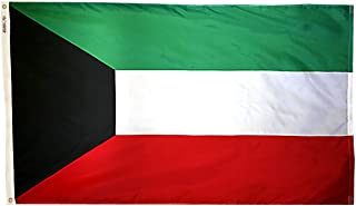 product image for Annin Flagmakers Model 194520 Kuwait Flag 3x5 ft. Nylon SolarGuard Nyl-Glo 100% Made in USA to Official United Nations Design Specifications.