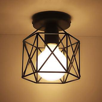 Hohle Eisen Net LED Deckenleuchte Moderne Metall Pendelleuchte Art Deco  Licht Kreative Eisen Deckenleuchte Für Küche