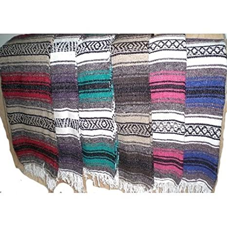Amazon.com: Ten 10 Large Authentic Mexican Falsa Blanket ...