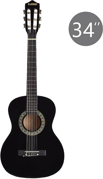 Guitarra acústica con 3 cuerdas de nailon y 3 cuerdas de acero ...