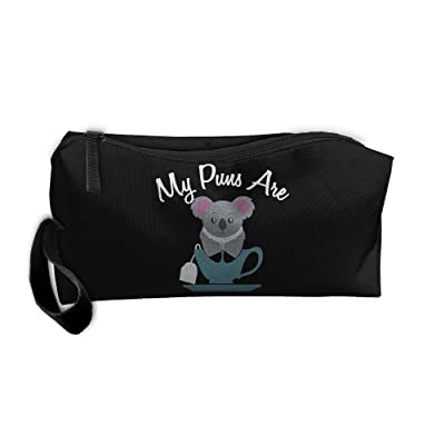 Haddfyeertty My Puns Are Koala Tea Fashion Toiletry Bag Travel Receiving Bag Wallets Purse Zipper Kit Multi-function Bag