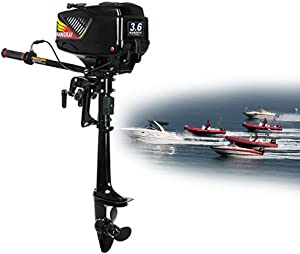 Dyrabrest 3.6 HP 2 Stroke Outboard Motor Engine with Fishing Boat Engine Inflatable Water Cooling System
