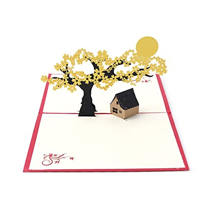 Amazon arich 3d pop up holiday greeting cards cherry tree arich 3d pop up holiday greeting cards cherry tree house christmas thanksgiving gift m4hsunfo