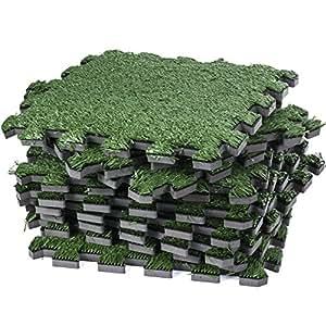 Interlocking artificial grass tile for Grass carpet tiles