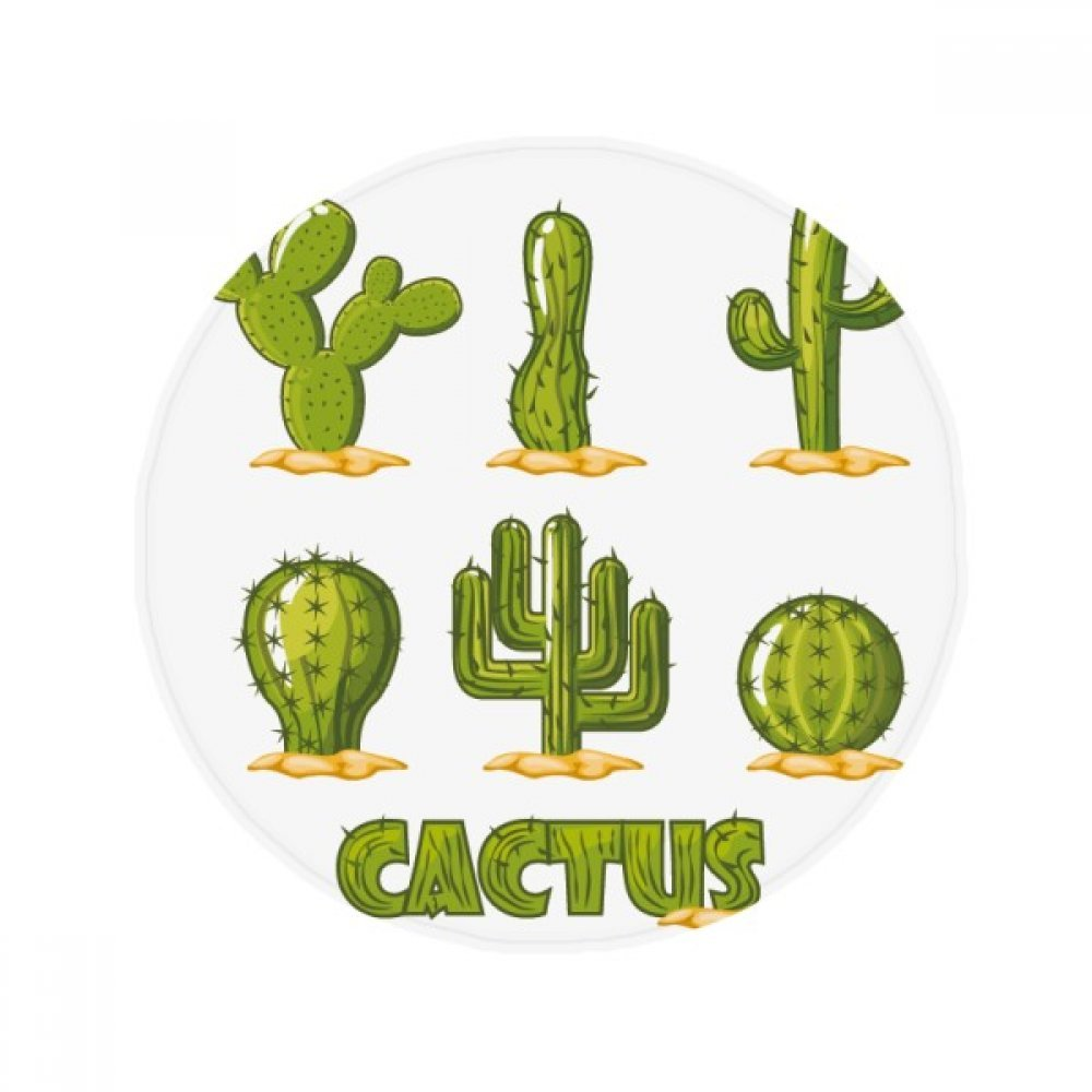 60X60cm DIYthinker Succulents Potted Plant Cactus Pattern Anti-Slip Floor Pet Mat Round Bathroom Living Room Kitchen Door 60 50Cm Gift