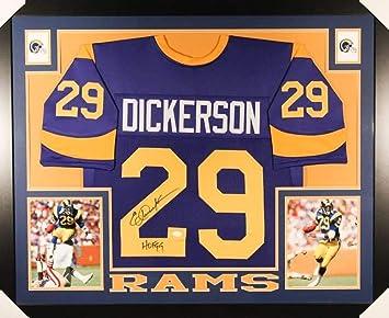 af20c149f Eric Dickerson Autographed Signed Rams 35x 43 Custom Framed Jersey Inscribed  HOF 99 Memorabilia - JSA