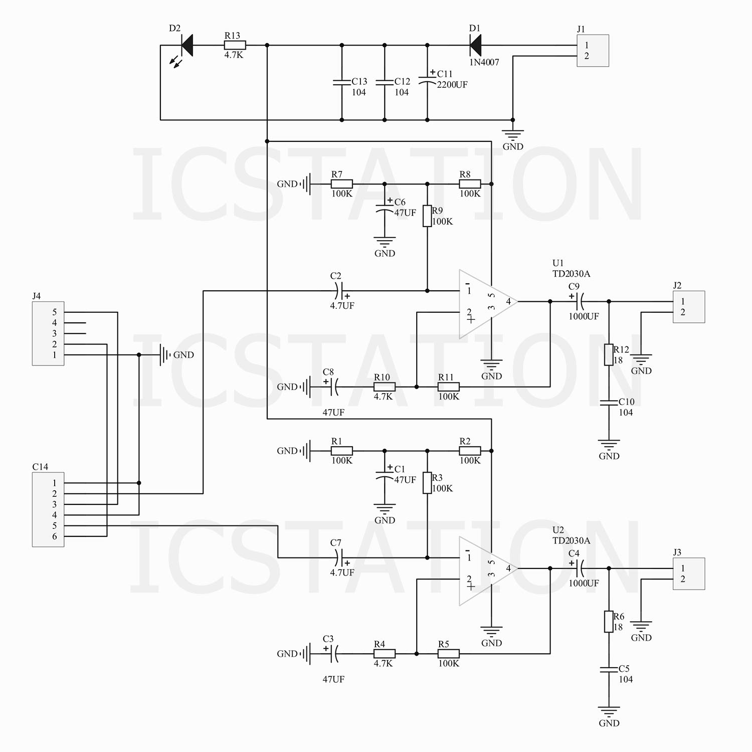 Icstation Tda2030 2x15w Stereo Audio Amplifier Diy Kits Electronics Schematic With Ic Soldering Practice Suite Industrial Scientific
