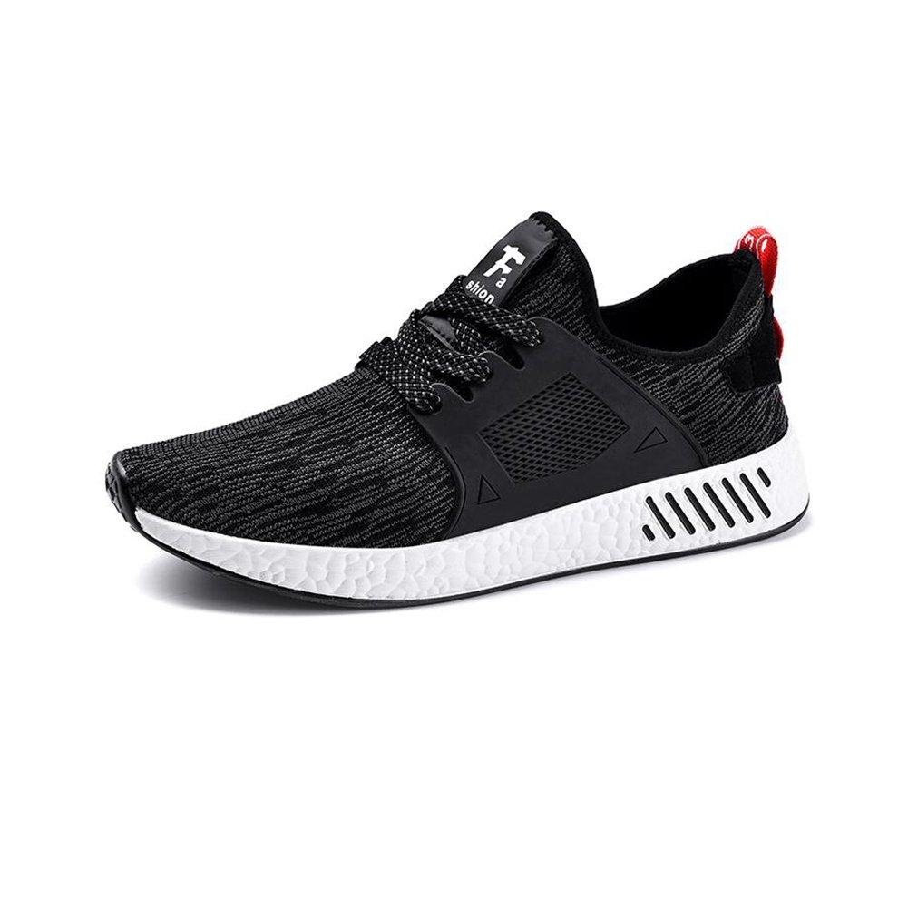 YIXINY Deporte Zapato Ultraligero Zapatillas De Deporte Zapatos De Red Hombre Estudiante Juventud Ocio Salvaje Primavera Y Otoño Negro / Blanco ( Color : Negro , Tamaño : EU39/UK6.5/CN40 ) EU39/UK6.5/CN40|Negro