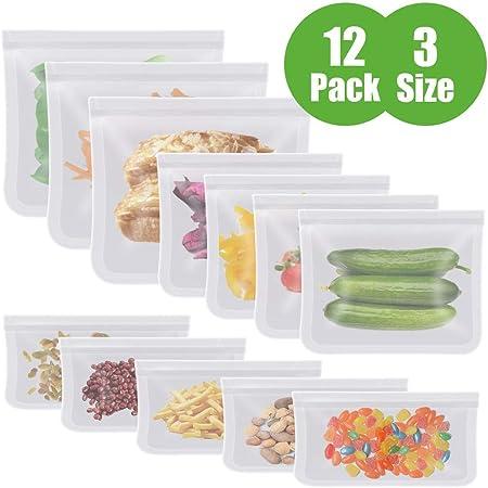 【Seguro y Basura Cero】La bolsa de almacenamiento AUNUS hecha de material PEVA de grado alimenticio,