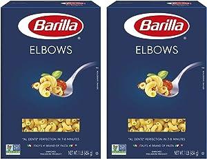 Barilla Classic Elbows Italy's #1 Brand of Pasta Non-GMO Macaroni - 2 Boxes (2 lb)