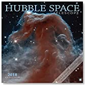 Hubble Space Telescope 2018 12 x 12 Inch Monthly Square Wall Calendar by Wyman, Science Space Technology