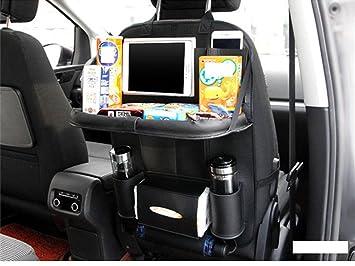 1Pcs Car Seat Back Bag Organizer Storage iPad Phone Holder Multi-Pocket Leather