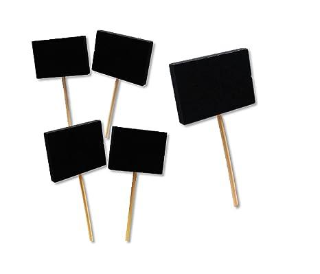 5 Mini pizarras 5 x 3 cm cartel para repostería, tapas, plantas, macetas... Se puede escribir por las dos caras