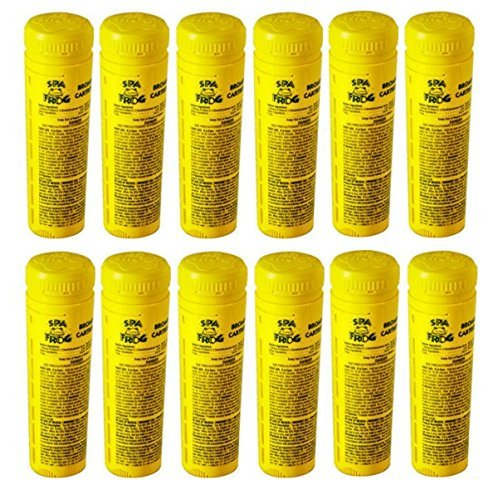 Bromine cartridge 12 pack replacements for spa frog sanitizer
