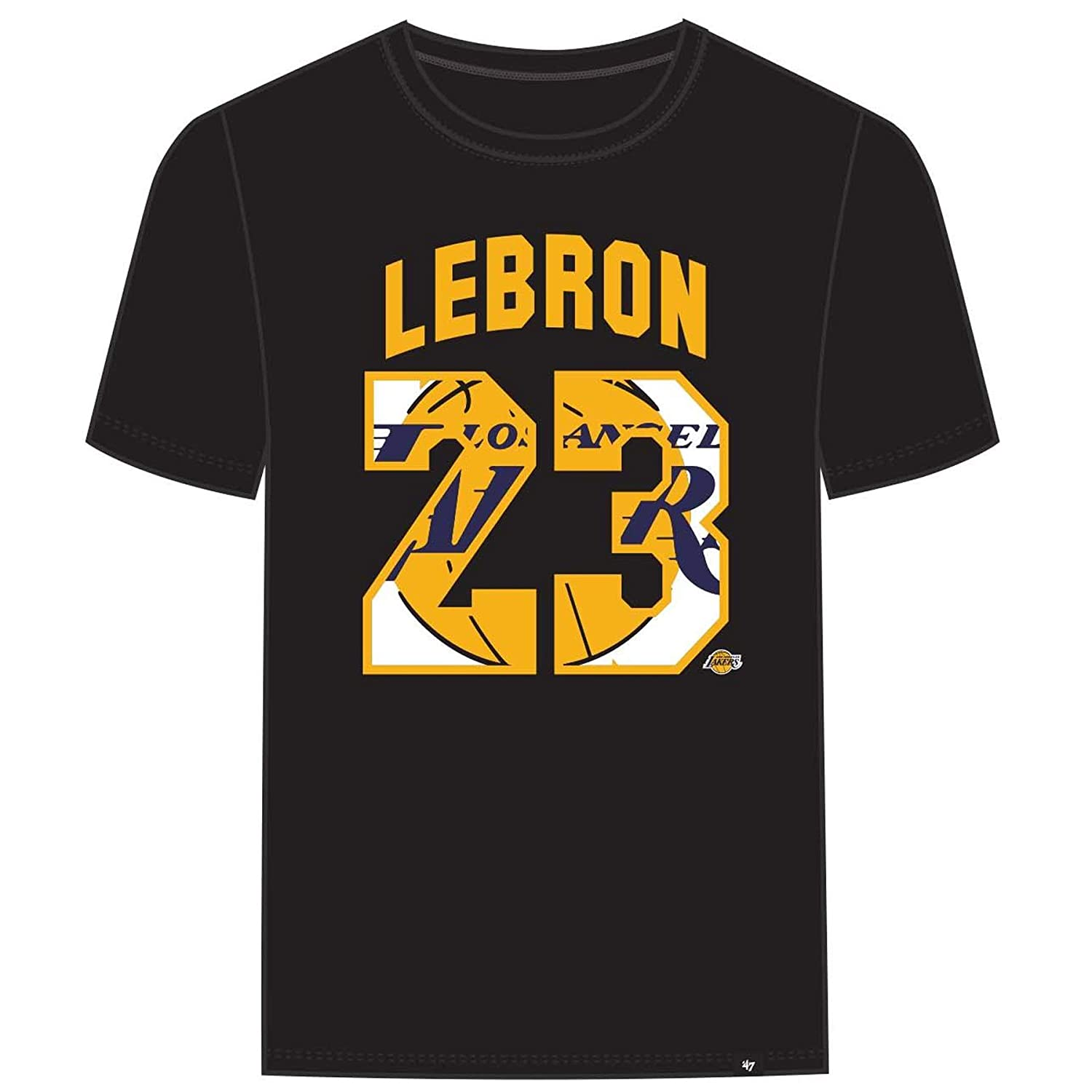 f498cb06deb Amazon.com    47 Los Angeles Lakers Lebron James Brand Black Super Rival  Jersey T-Shirt   Clothing