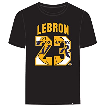 low cost 98eae 663ee '47 Los Angeles Lakers Lebron James Brand Black Super Rival Jersey T-Shirt