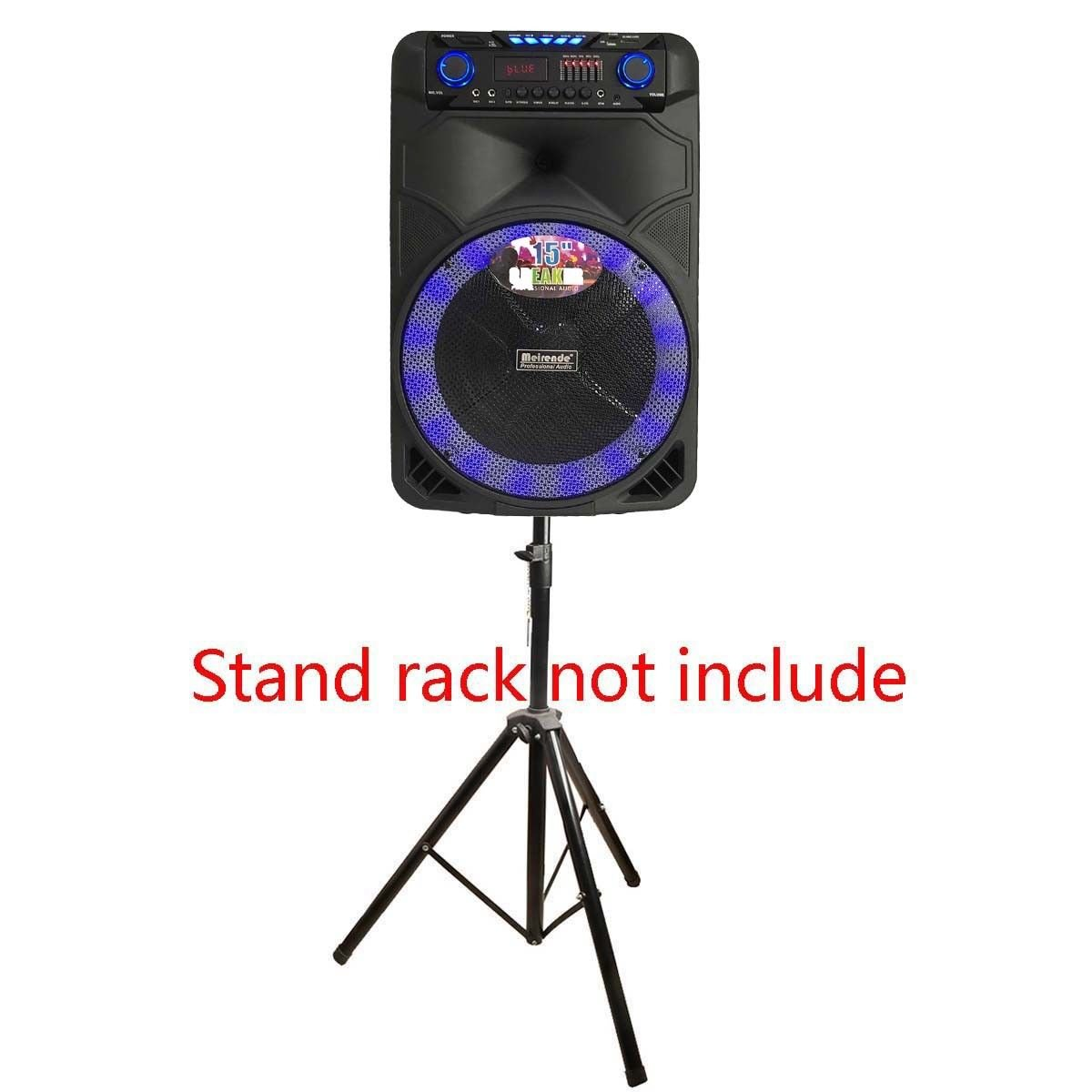 Tengchang 15 Portable Rechargeable PA Speaker +Bluetooth +USB/SD/FM +LED +2 MICS