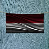 fast dry towel Flag of INDONESIA Excellent Water Absorbent Antistatic L39.4 x W9.8 INCH