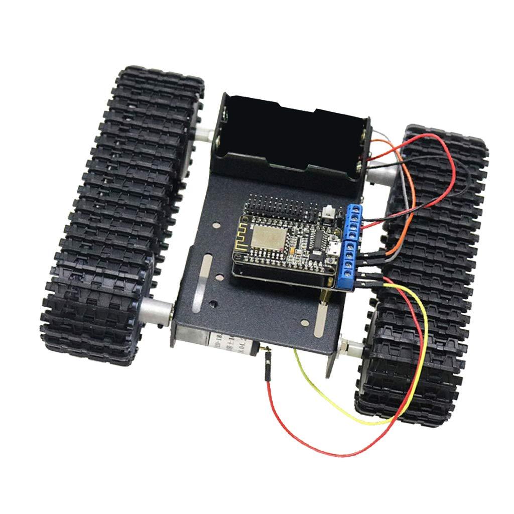17 Noir  FLAMEER 2WD DIY RC intelligent Robot ChÂssis De Voiture Kit Encodeur De Vitesse Moteur pour Arduino -  25 Jaune