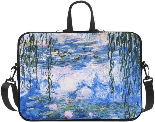 Christie Quinn Water Lilies by Claude Monet Art Sleeve Messenger Laptop Bag