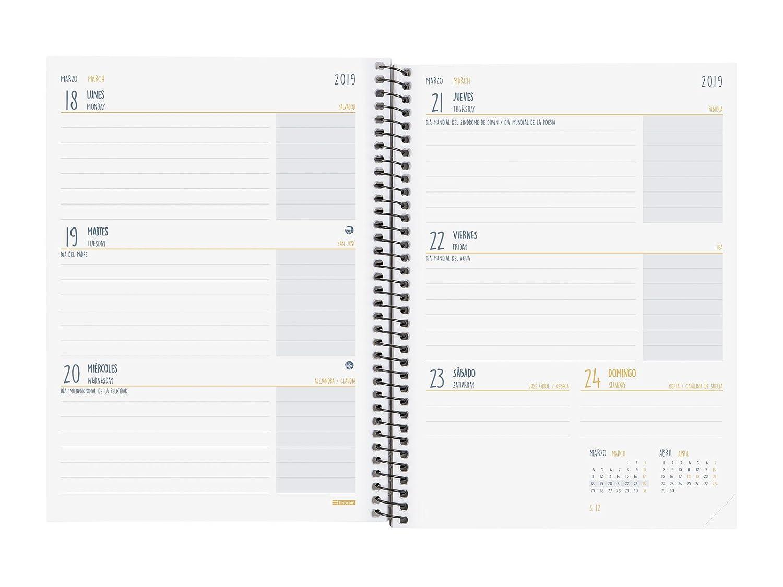 Finocam Secundaria - Agenda 2018-2019 semana vista apaisada español, 155 x 212 mm, cronos: Amazon.es: Oficina y papelería