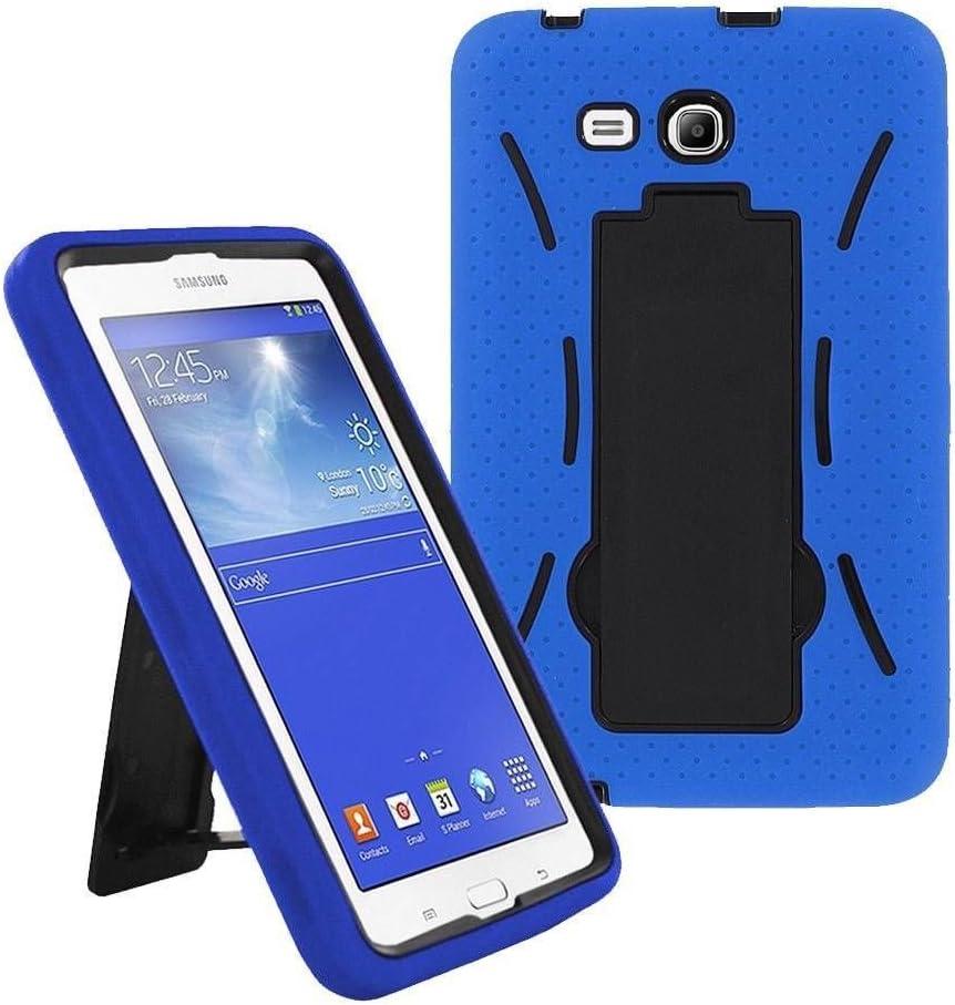 Galaxy Tab A 7.0 SM-T280 2016 Case by KIQ Heavy Duty Drop Protection Silicone Skin Hard Plastic Case Cover for Samsung Galaxy Tab A 7-inch [T280 & T285] (Hybrid Blue)