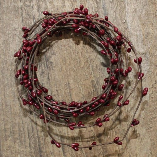 18ft Single ply Roping Burgundy Pip Berry Garland