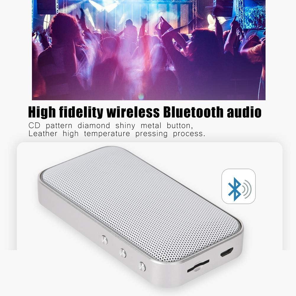 Lazmin Caja de Sonido port/átil AEC Radio Retro inal/ámbrica Multifuncional Altavoz Bluetooth Sonido con Reproductor TF Blanco
