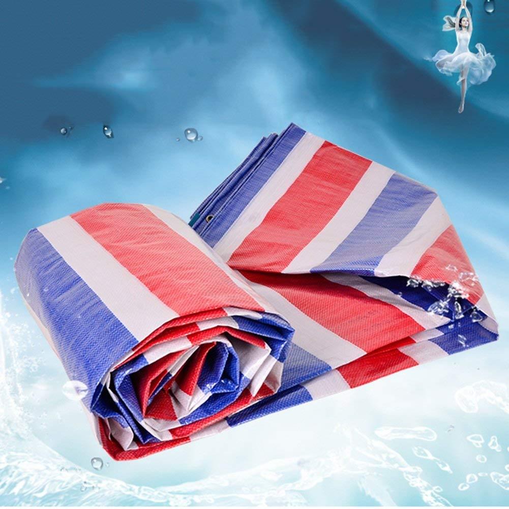 MONFS Home Außenzelt Plane Plane Plane wasserdicht Sonnencreme Zelt Tuch LKW Plane Ladung Sonnenschutz staubdicht und reißfest Farbstreifen Tuch (Farbe   TriFarbe, Größe   10x10m) B07PS13K7M Zelte Jugend überschwemmen b767e9