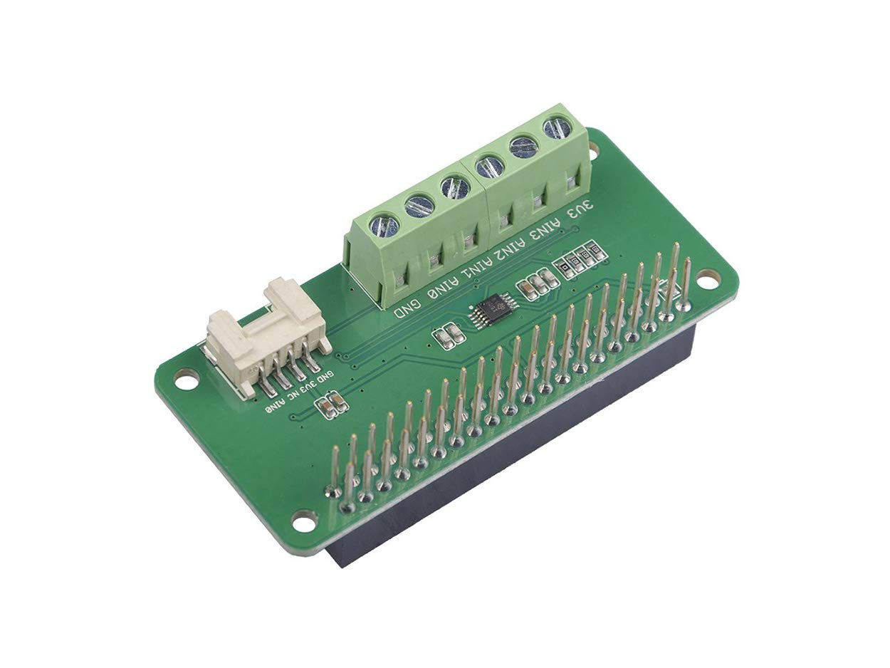 Seeed Studio 4-Channel 16-Bit Analog-to-Digital Converter(ADC) Based on ADS1115 with Analog Grove Connector for Raspberry Pi Same Size as Pi Zero