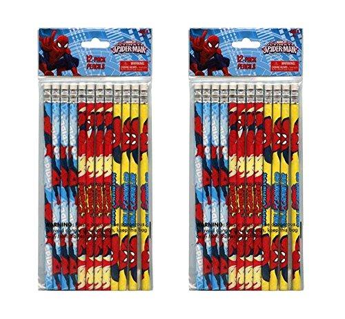 2-Pack Marvel Ultimate Spider-Man 12ct #2 Wood Pencils (24 Total) -