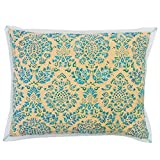 Vivai Home Turquoise Paisley Beaded Stamp Rectangle 12x 16 Feather Pillow