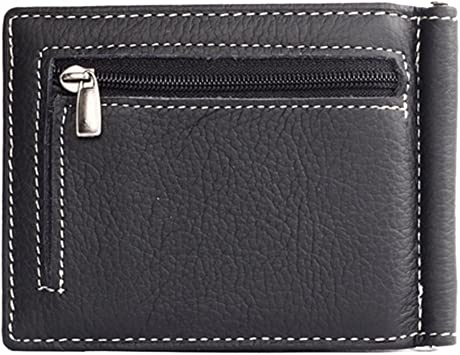 Men Slim PU Leather Coin Zipper Pocket Wallet Bifold Credit Card Holder Purse LD