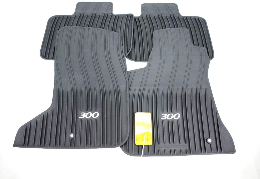 All-Weather Floor Mats for 2011-2015 All-Wheel-Drive Chrysler 300 Mopar 82212254AC Black