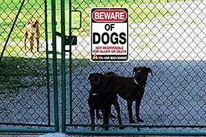Amazon.com: Tenga cuidado con los perros Cartel | Funny o ...