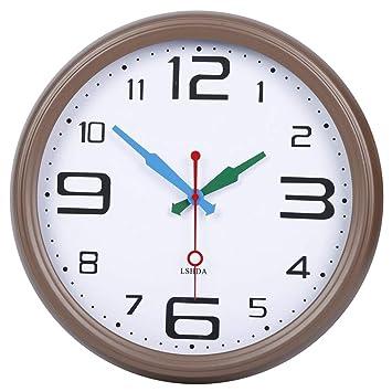 ZHANGMOCHA Reloj de Pared Vintage Silencio Sin marcar Reloj Digital árabe Funcionamiento de la batería Estudio de café (30 cm): Amazon.es: Hogar