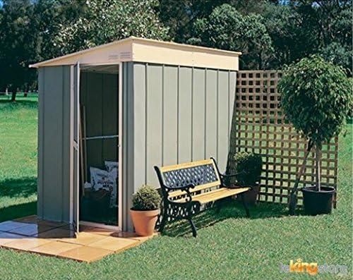 Caseta de jardín metal, 8 x 5, diseño de chalet Monopente 3, 79 m² ...