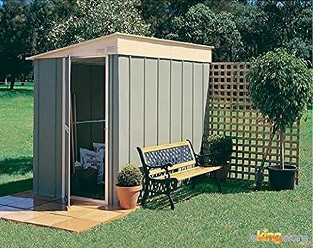 Caseta de jardín metal, 8 x 5, diseño de chalet Monopente 3, 79 m²-Kit de anclaje: Amazon.es: Jardín